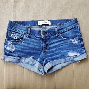 Hollister Cuffed Distressed Shorts